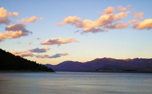 Lake Tekapo sunset.