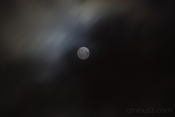 The moon in cloud