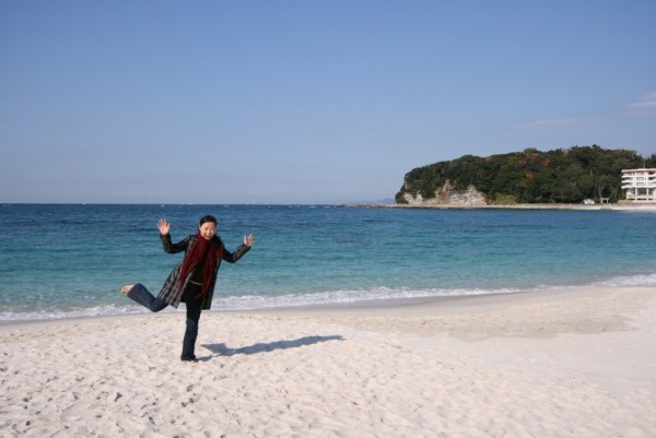 white sand beach @ South of Osaka