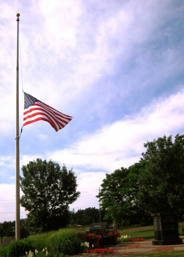 this flag is at half-staff too often these days...