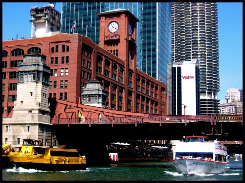 View from the architectural boat tour of Chicago