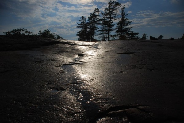 after the rain, rock