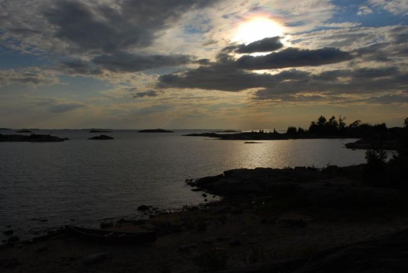 Franklin Island sundown