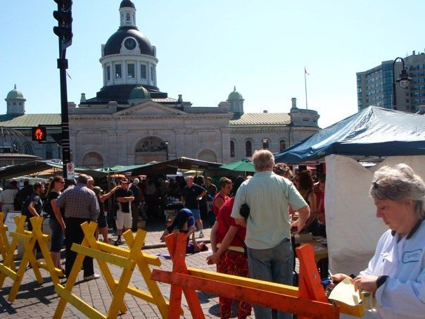farmer's market at Kingston town hall