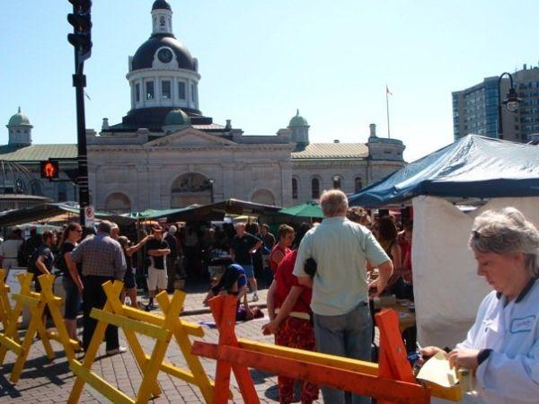 farmer's market at Kingston town hall
