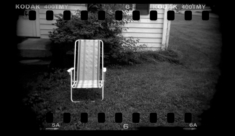 35mm holga, lawn chair - grant edwards photography