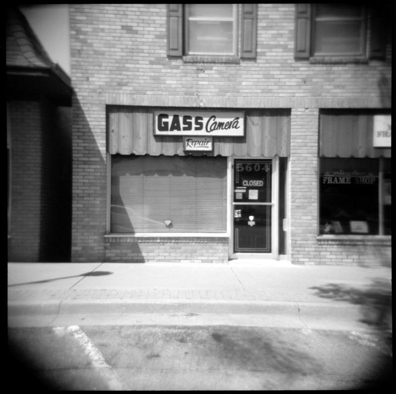 gass camera repair - holga photo, b&w