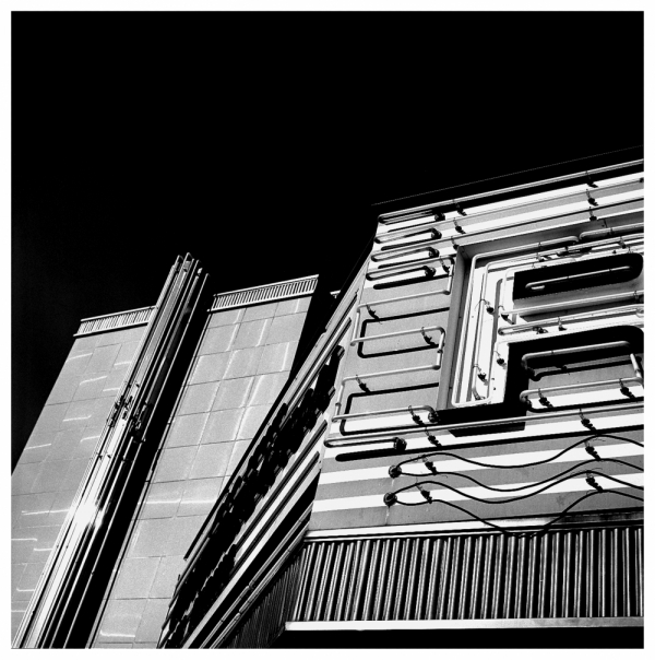 rio theater, overland park, ks - b&w photo