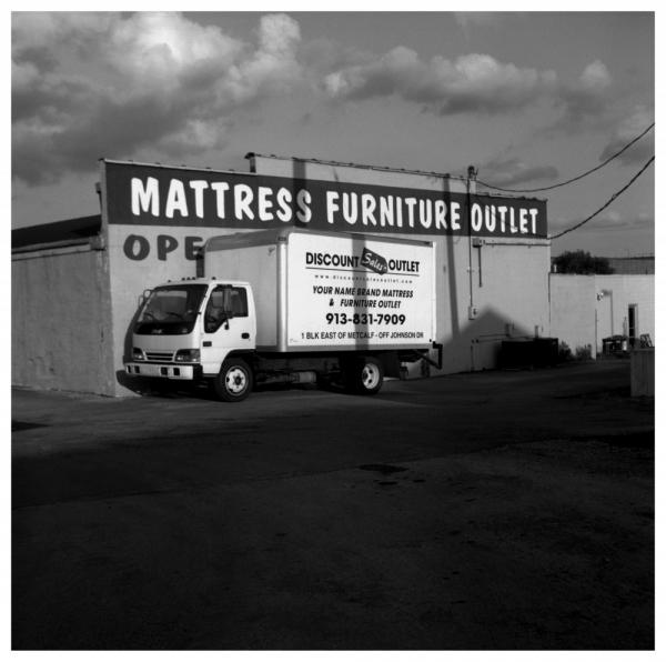 mattress outlet - b&w photo, rolleiflex