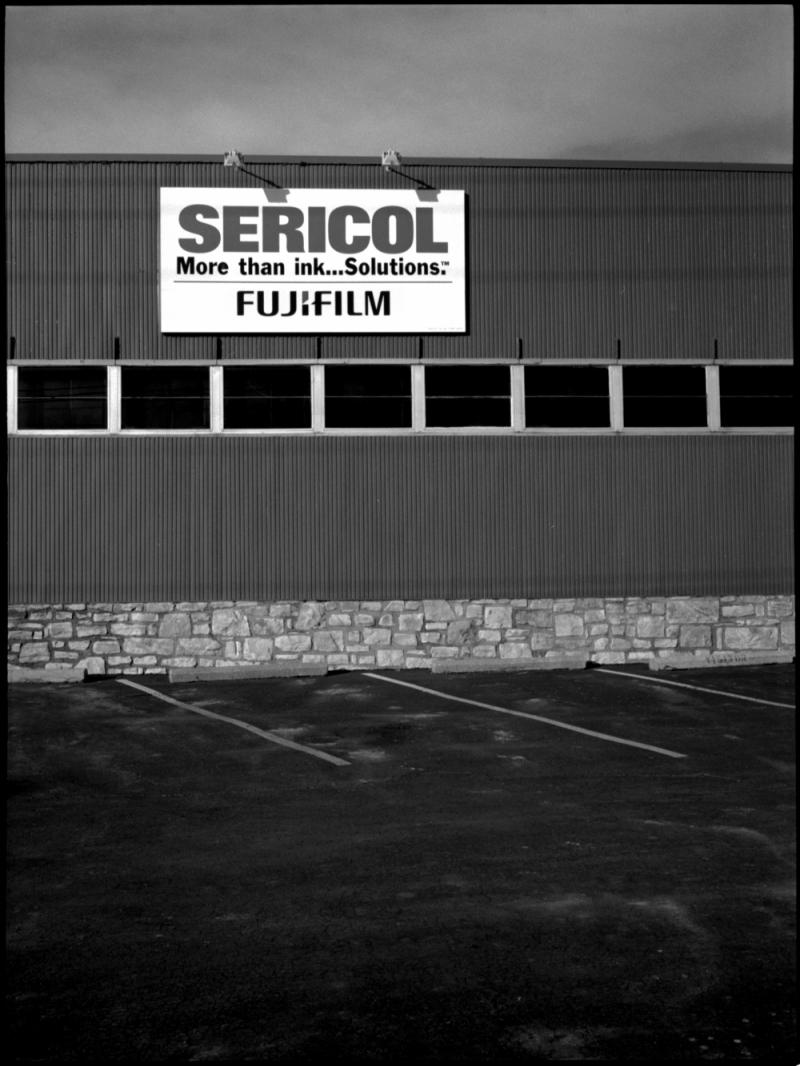 sericol building - b&w photo, fuji gs645