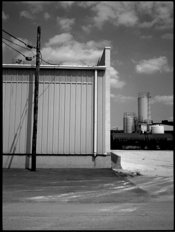 industrial building, kcmo - fuji gs645, b&w photo