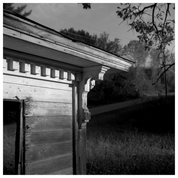 nace house, nebraska - rolleiflex, b&w photo