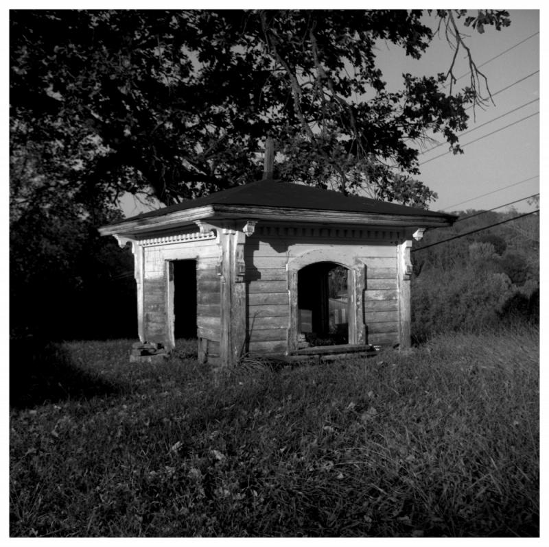 nace house renovation - rolleiflex b&w photo