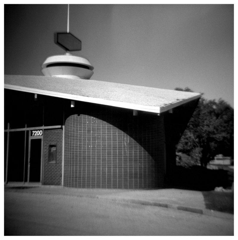 bank/church - diana photo, b&w