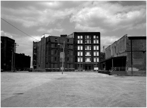 west bottoms buildings - fuji gs645 b&w photo