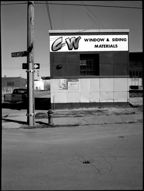 C&W in KCMO - b&w photo, fuji gs645