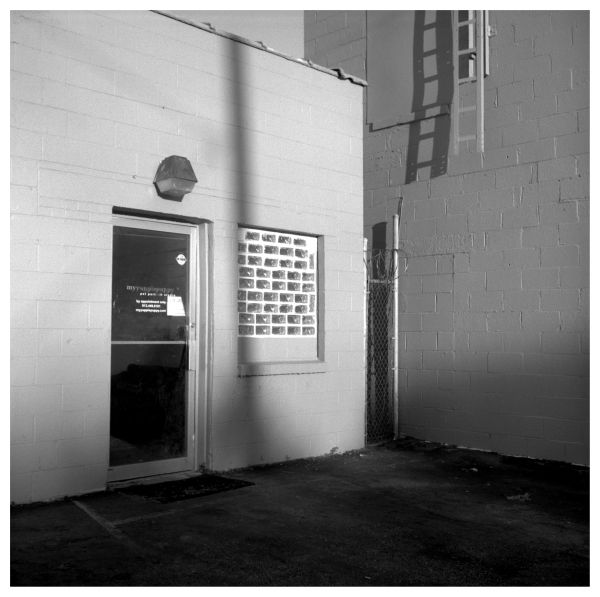 waldo pet store - rolleiflex b&w photo
