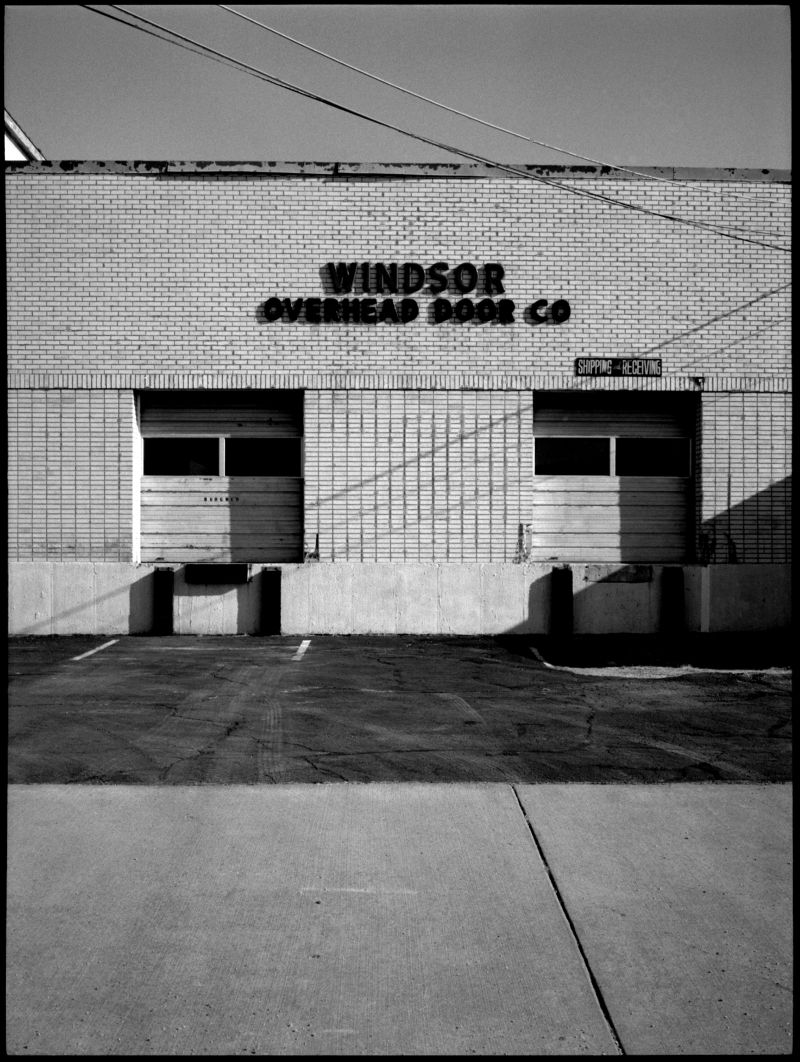windsor overhead door co - b&w photo, fuji gs645