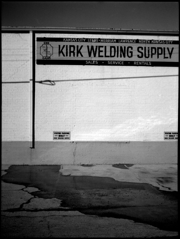 kirk welding supply - b&w photo, fuji gs645