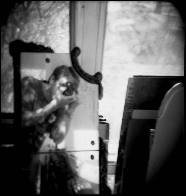 am3 self portrait day image - b&w holga