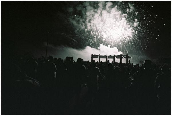 fireworks display - bessa L, b&w photo