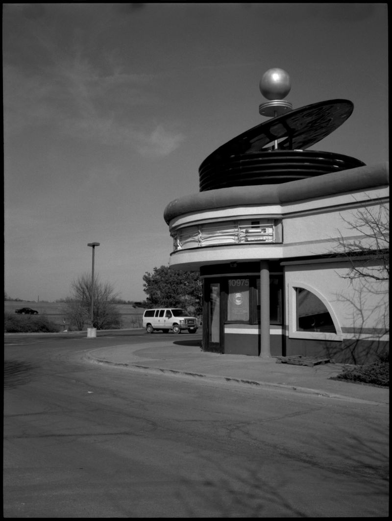 american bandstand restaurant - b&w photo