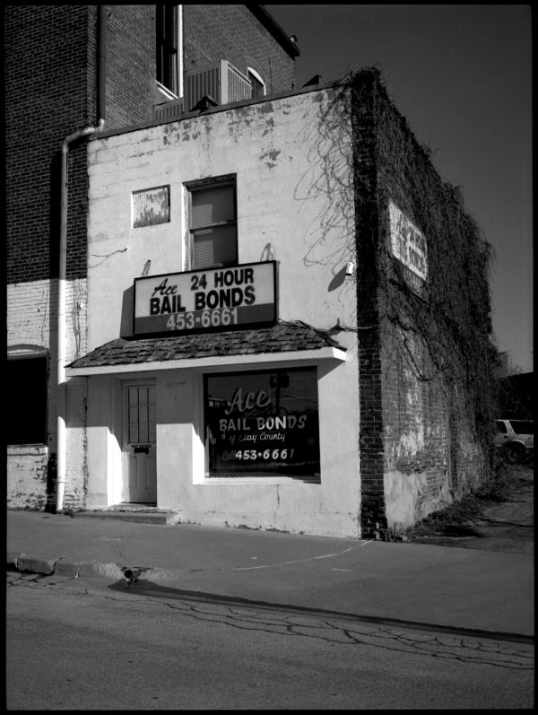 ace bail bonds - b&w photo, fuji gs645