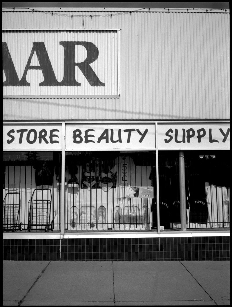 beauty supply store - kck - b&w photo