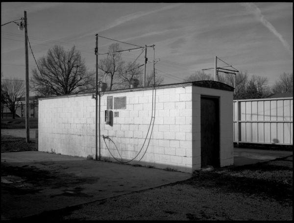 carwash - archie, missouri - b&w photo