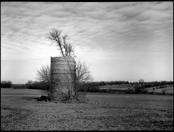 farm, cleveland, missouri - b&w photo