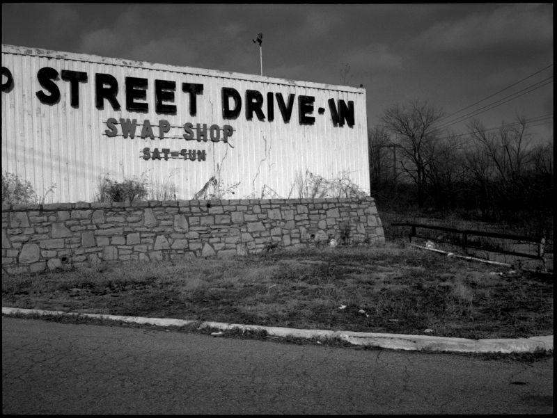 63rd St. Drive-In - KCMO - B&W photo