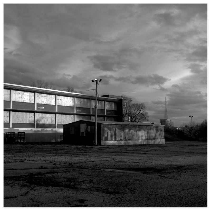 empty school - kansas city - b&w photo