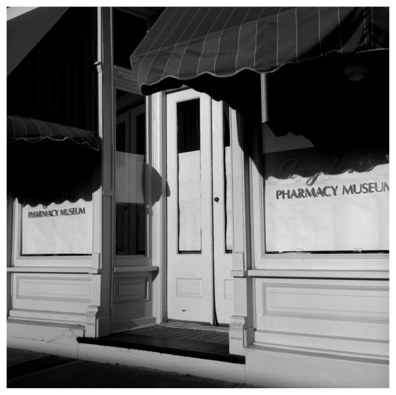 pharmacy museum - belton, mo - b&w photo