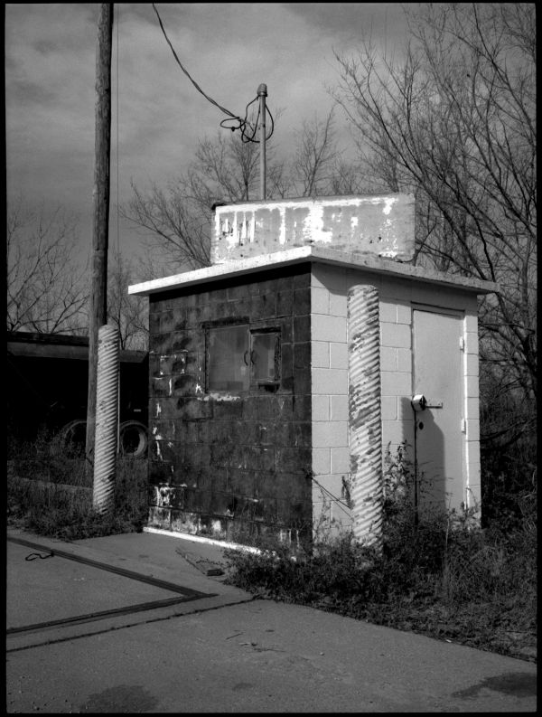 truck stop shed - kansas city, ks - b&w photo