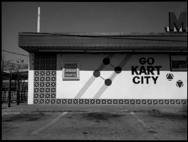 go kart city - b&w photo - fuji gs645