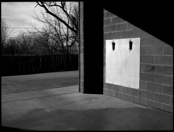 black & white photograph - carwash in kansas