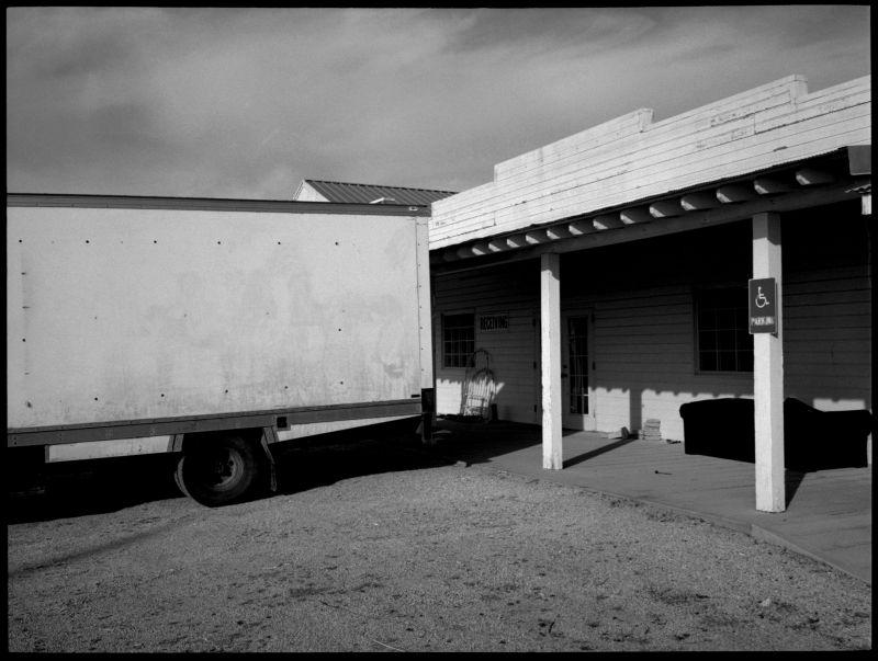 photography b&w, western town scene