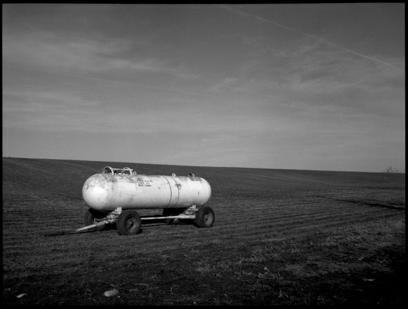 kansas farm - b&w photo picture
