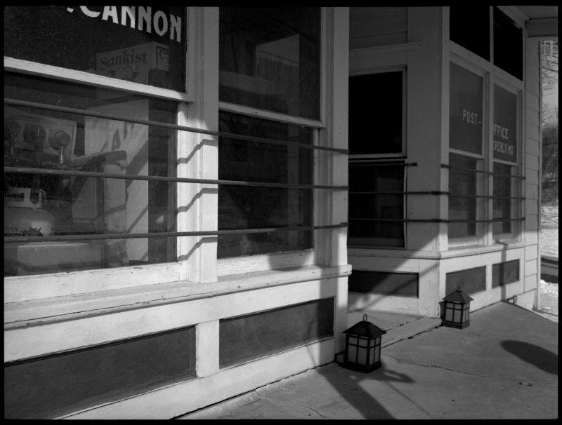b&w photo, rural post office, missouri