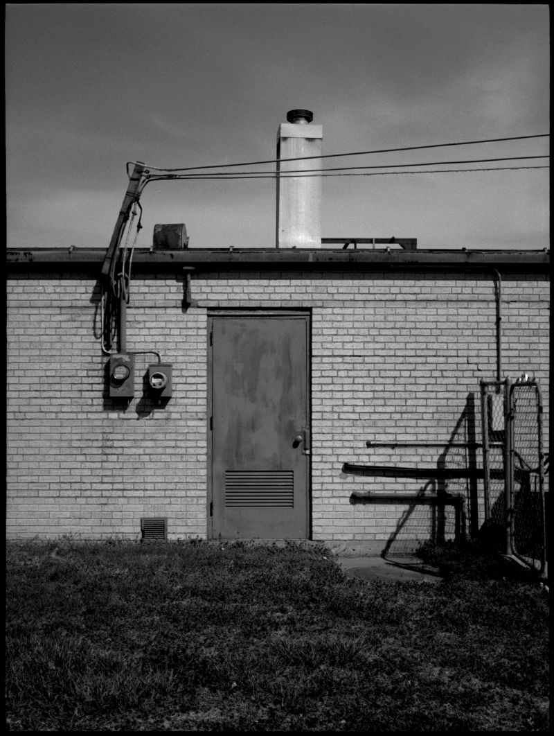 photograph, industrial scene, black and white