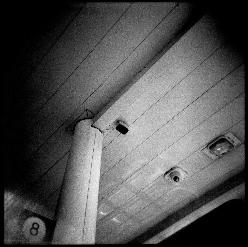 gas station photo, holga photo, b&w