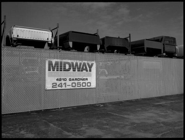 truck part supply photo black & white