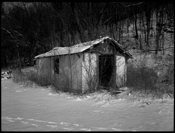 rural snow photo, waldron missouri, b&w