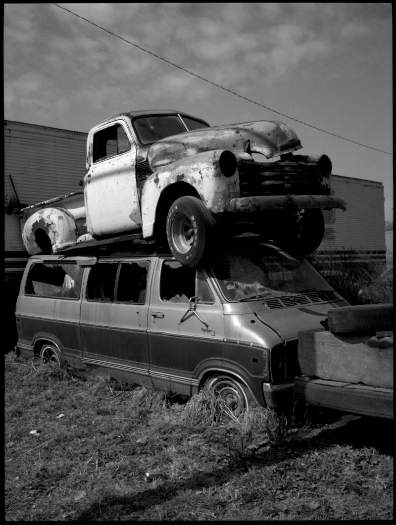 old truck photography, junk yard photo