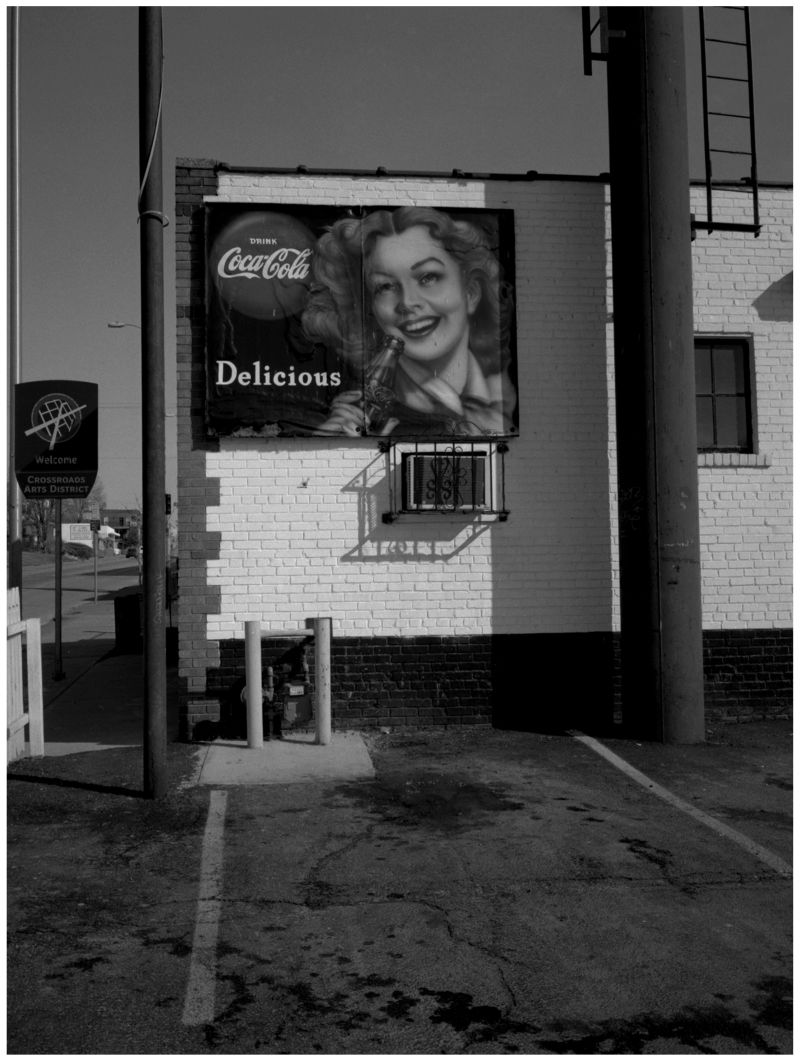 old coca-cola sign, town topic hamburgers, photo