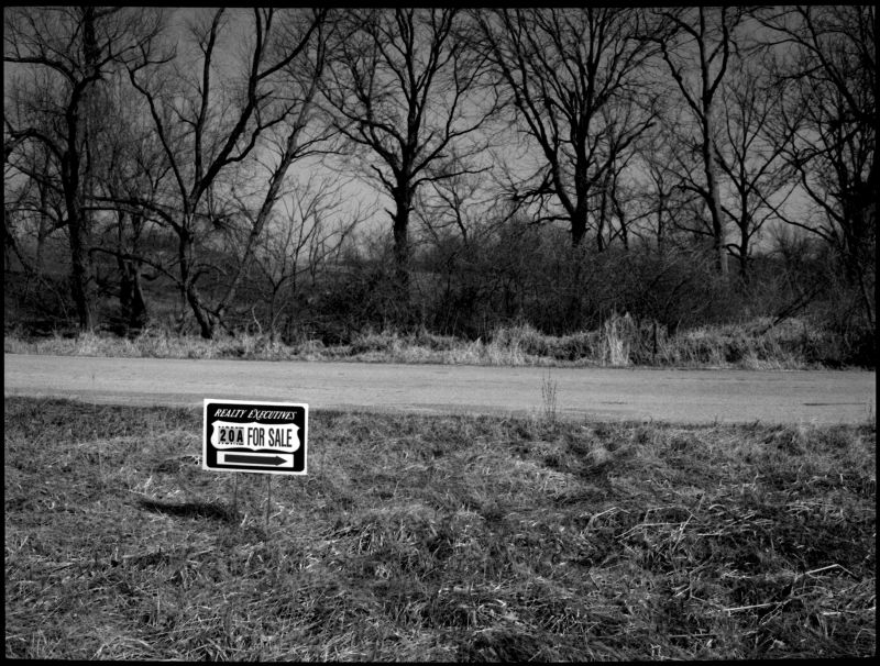 land for sale, liberty mo, photograph, b&w