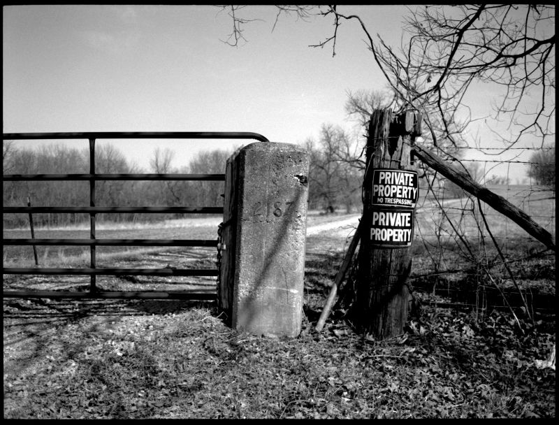 private property sign, glenaire missouri, photo
