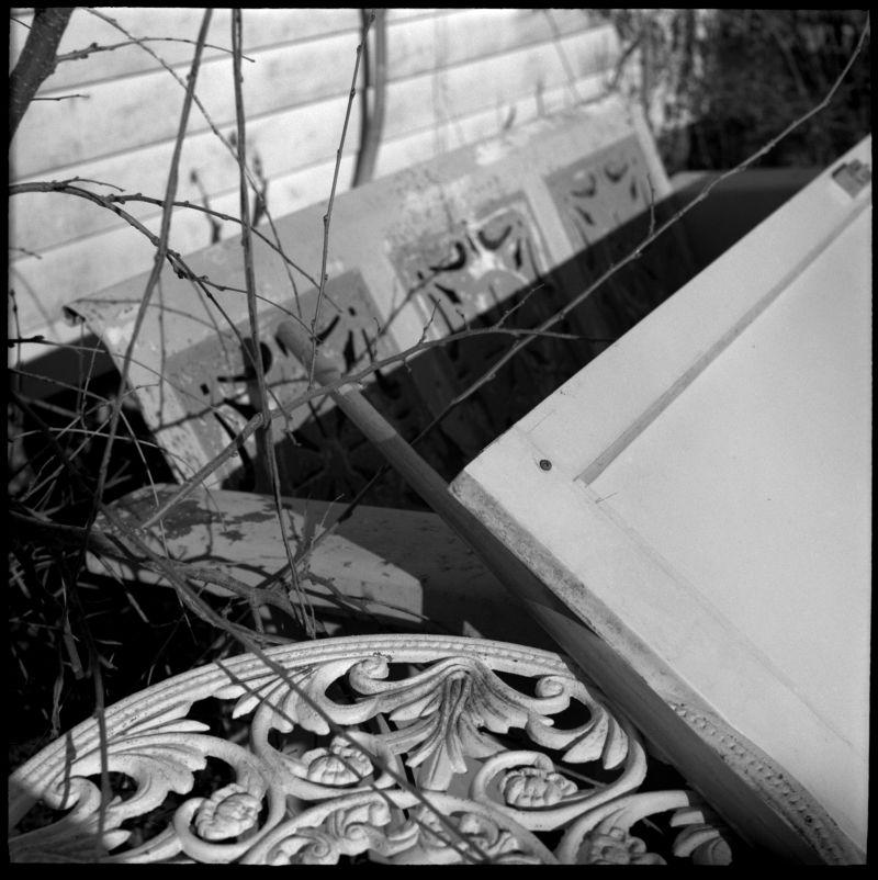 photo of old table, back yard, kansas