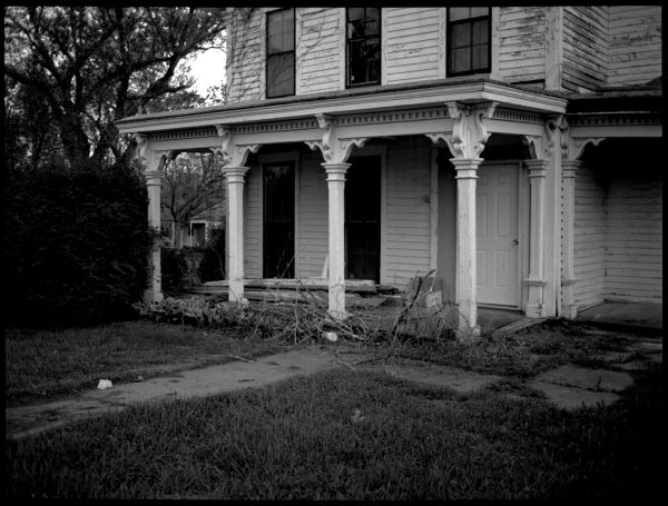 abandoned house, highland kansas, photograph