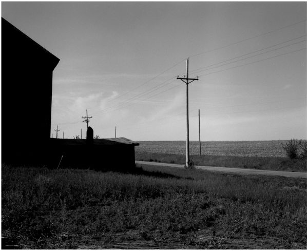 barn and road in beverly, missouri - photograph
